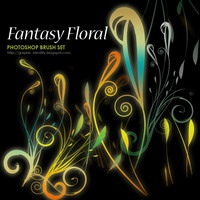 Preview for Fantasy Floral Photoshop Brushes