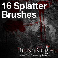 Preview for 16 Hi-Res Splatter Brushes