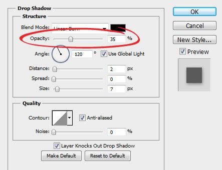 drop shadows in photoshop