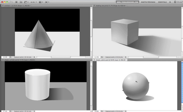 Link toHow to apply light, shading, and shadow to round objects