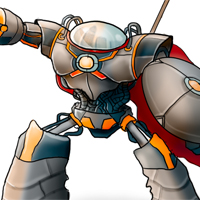 Preview for Color a Medieval Robot Character Illustration