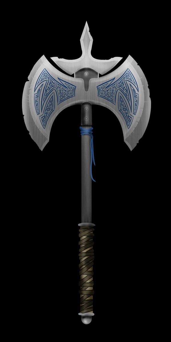 Medieval Battle Axe Drawing Photoshop is an Excellent Tool