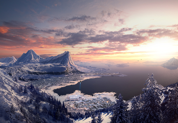 Link toSpeed art: how to create a mountain landscape in photoshop