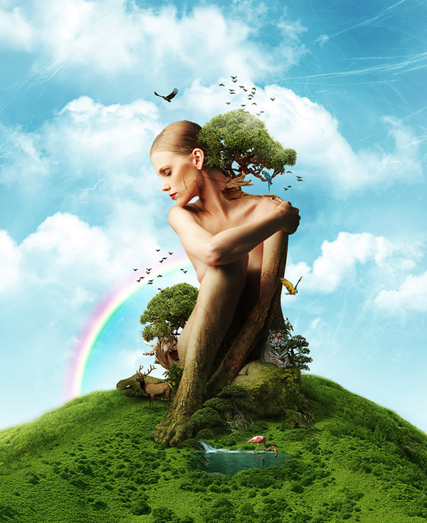 Create a mother earth photo manipulation – psd premium tutorial
