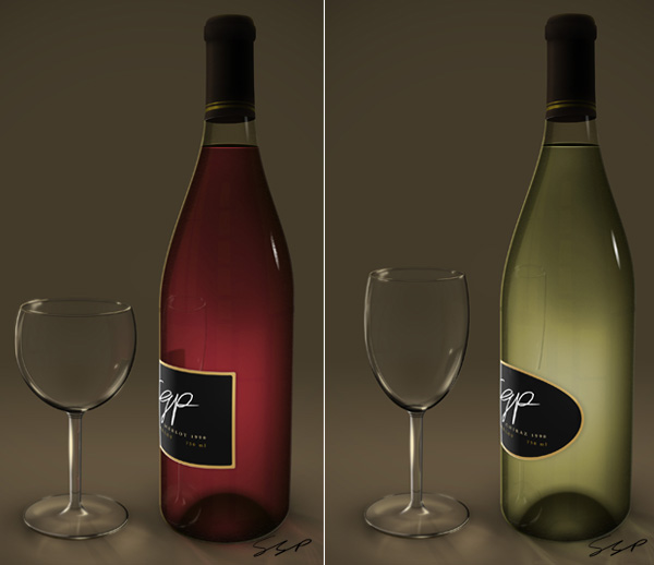 Link toCreate a wine bottle and glass with smart objects - psd premium tutorial