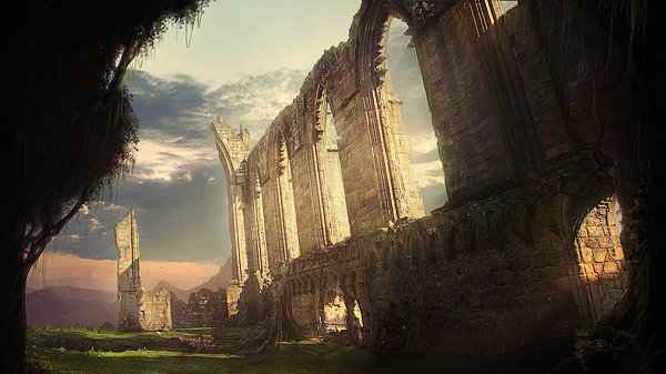 Create ruins of a forgotten abbey in photoshop – psd premium tutorial