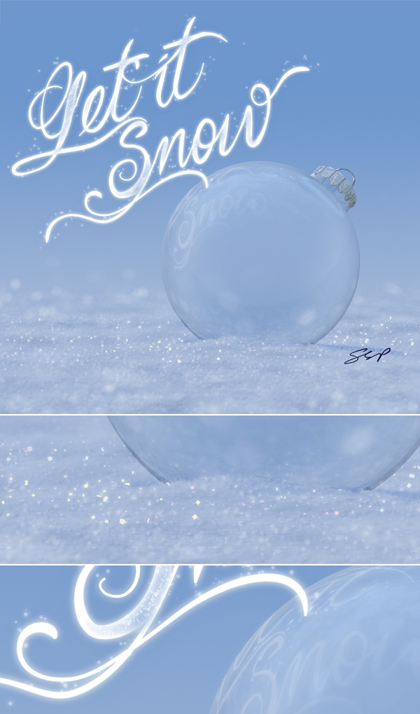 Link toCreate a winter-themed holiday card in photoshop