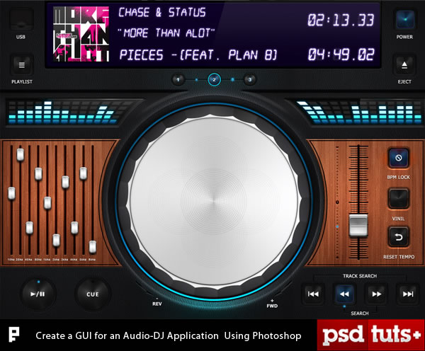 Link toCreate a gui for an ipad audio-dj application using photoshop - tuts+ premium tutorial