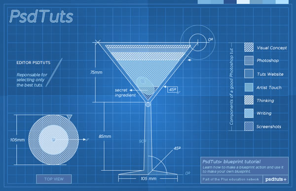 Link toCreate a cocktail blueprint using actions in photoshop - tuts+ premium tutorial