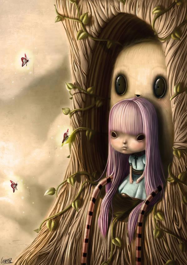 Link toCreate a cute and dark fantasy illustration in photoshop - tuts+ premium tutorial