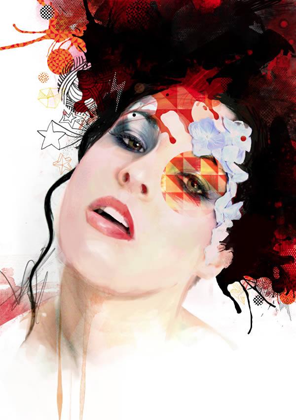 Link toCreate a mixed media portrait illustration - tuts+ premium tutorial