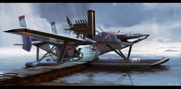 Link toDesign a futuristic extra terrestrial seaplane in photoshop - tuts+ premium tutorial