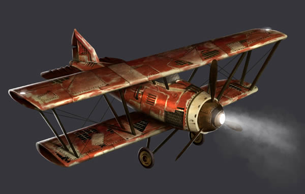 Link toCreate a post-apocalyptic biplane from a 3d reference - tuts+ premium tutorial