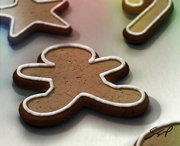 Link toCreate a gingerbread cookie scene using smart objects