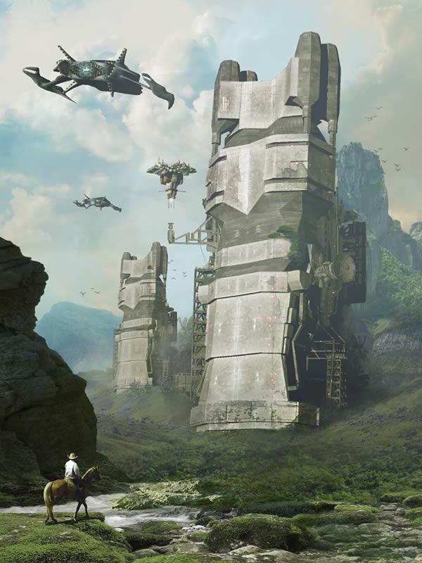 Link toCreate a futuristic sci-fi scene using 3d models in photoshop cs6 extended - tuts+ premium tutorial