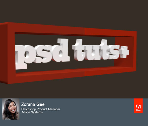 Link toUse photoshop cs5 extended to create a simple 3d logo - screencast