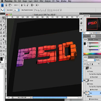 Preview for How to Create 3D Text Blocks in Photoshop - Screencast