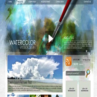 Preview for Create a Watercolor-Themed Website Design with Photoshop - Screencast