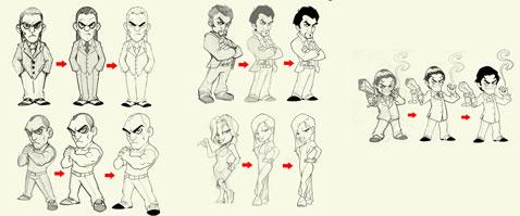 Mafia Death evolucion personajes