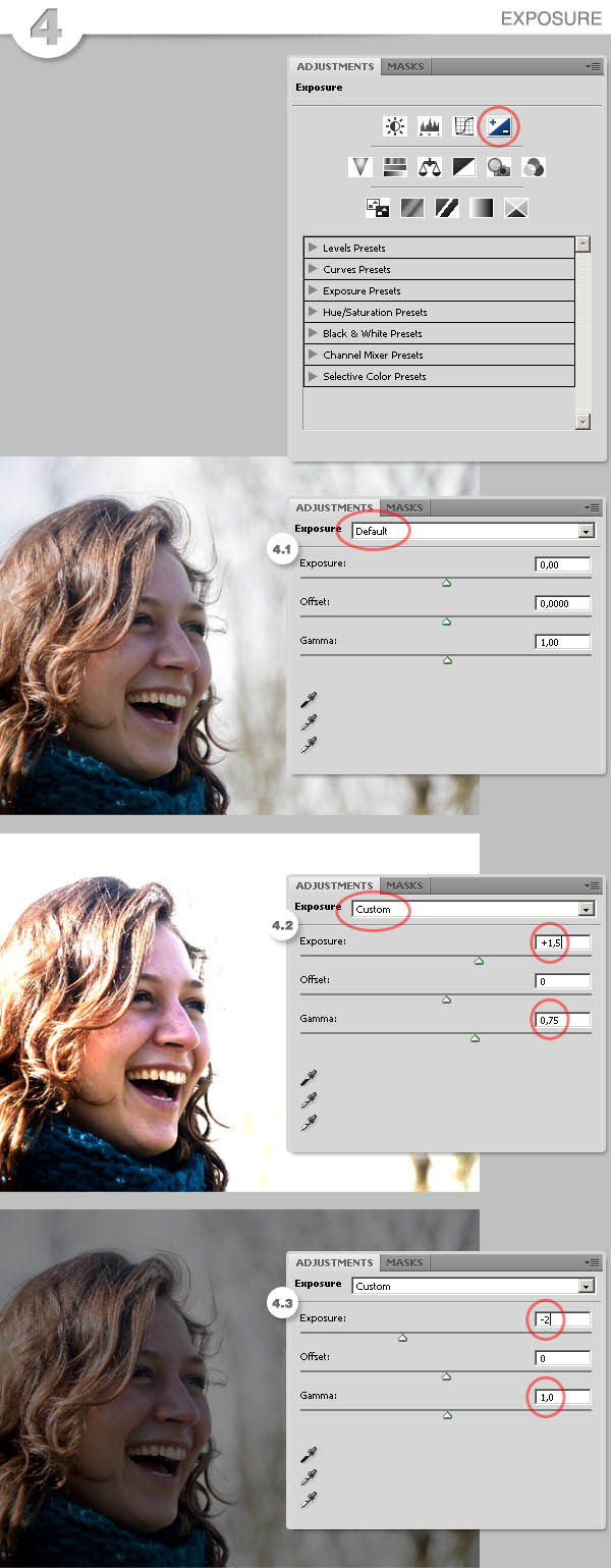 A basic guide to photoshop cs4 adjustment layers 4 exposure baditri Image collections