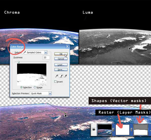 Selection in Photoshop