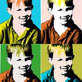 Andy Warhol Pop Art Silkscreen Effect