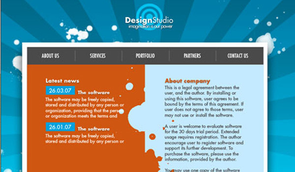 simple design studio layout design