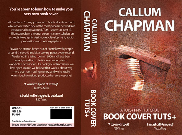 Book Cover Texture Example ~ Massive textures showcase creative examples of use