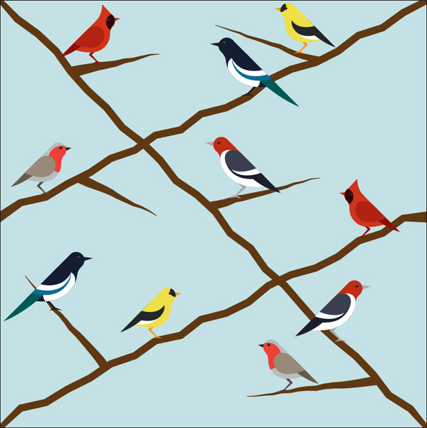 how to create a seamless bird pattern with retro touch in illustrator