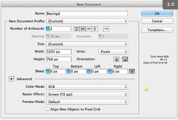 Quick tip creating a bazinga text treatment in adobe illustrator 2 create your base shapes toneelgroepblik Gallery