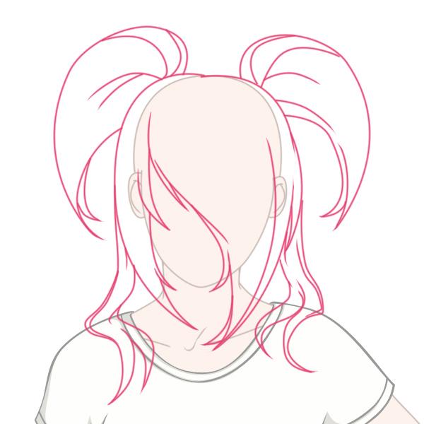 Anime Girl Base With Hair
