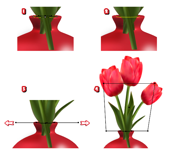 Create Detailed Tulips With Gradient Mesh Without The Mesh Tool In