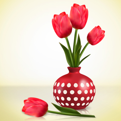 Preview for Create Detailed Tulips With Gradient Mesh, Without the Mesh Tool in Illustrator