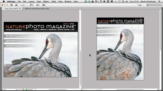Link toCreate alternate layouts with the same content using adobe indesign cs6