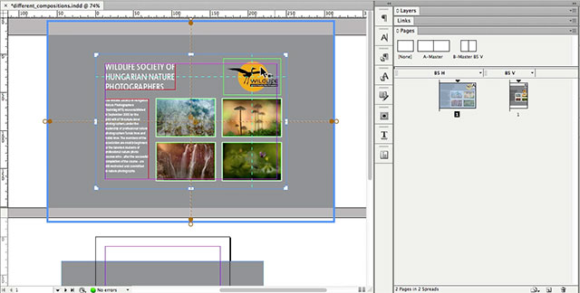 Working with liquid layouts in adobe indesign