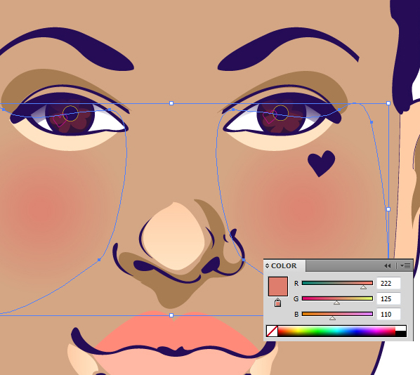 for highlights on this olive toned skin is a light tan to subdue it ive applied it as a gradient going from the highlight to the base skin color - Colors For Olive Skin