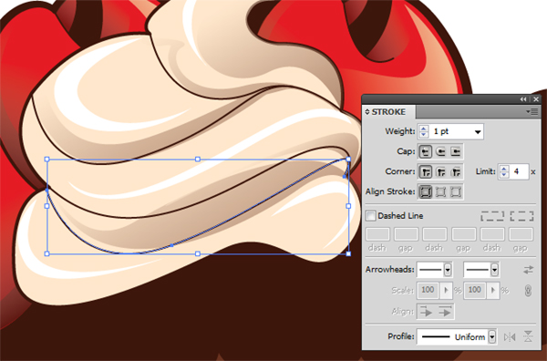how to draw banana slices on illustrator
