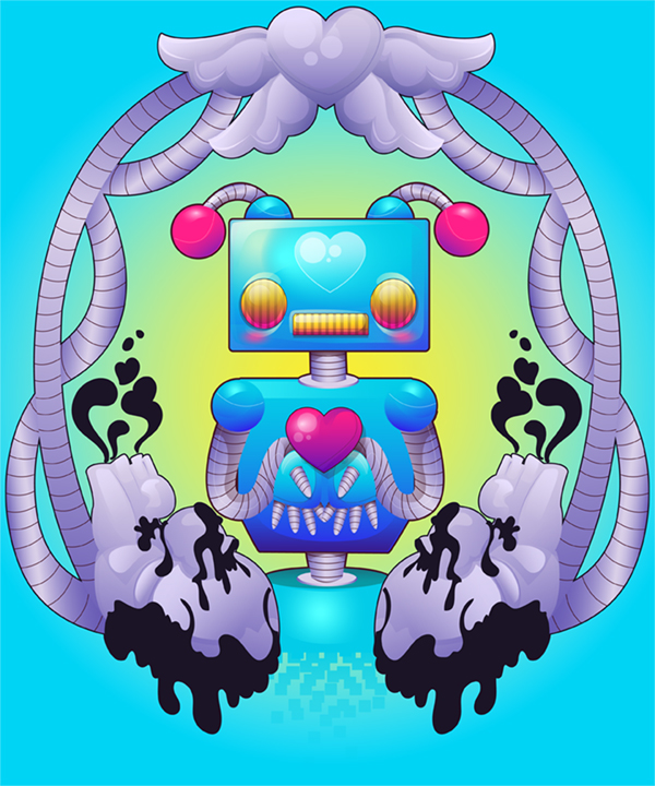 Link toCreate a colorful, funky robot with gradients in adobe illustrator