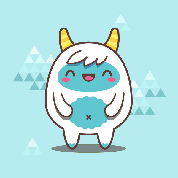 Character Design Using Illustrator : Creating a simple kawaii yeti with basic shapes in adobe