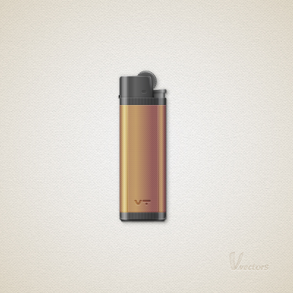 How to create a detailed lighter in adobe illustrator