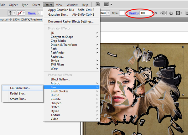 how to make a mirror effect in illustrator