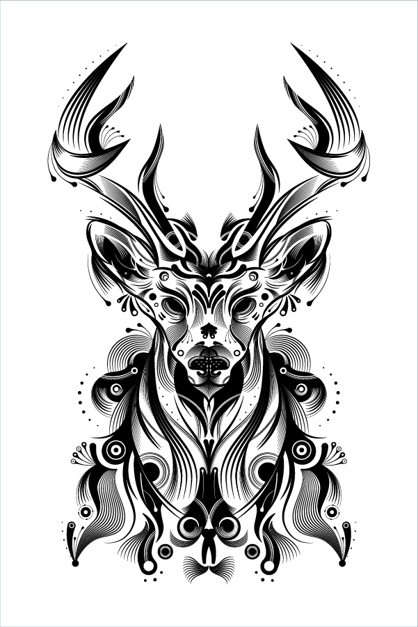how to create a stylish deer with brushes and graphic styles in adobe illustrator. Black Bedroom Furniture Sets. Home Design Ideas