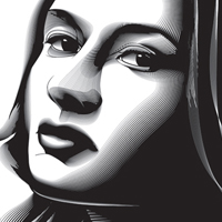 Preview for Using the Blend Tool to Create a Halftone Effect Portrait in Adobe Illustrator