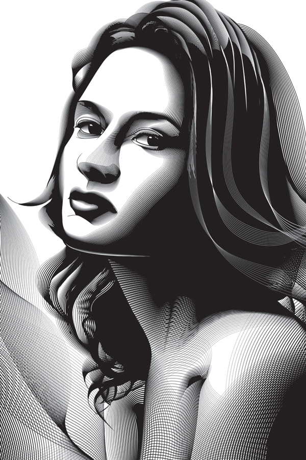 Link toUsing the blend tool to create a halftone effect portrait in adobe illustrator