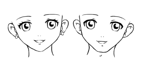Facial Structures In Manga