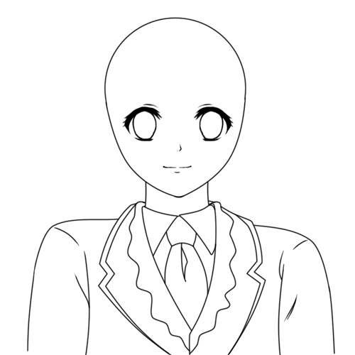 Drawing Vector Lines In Photo Cs : Creating a vector anime character in adobe photoshop