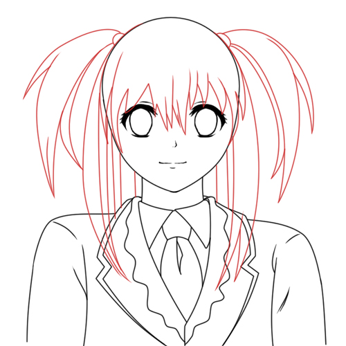 Creating A Vector Anime Character In Adobe Photoshop Part 1 Sketch