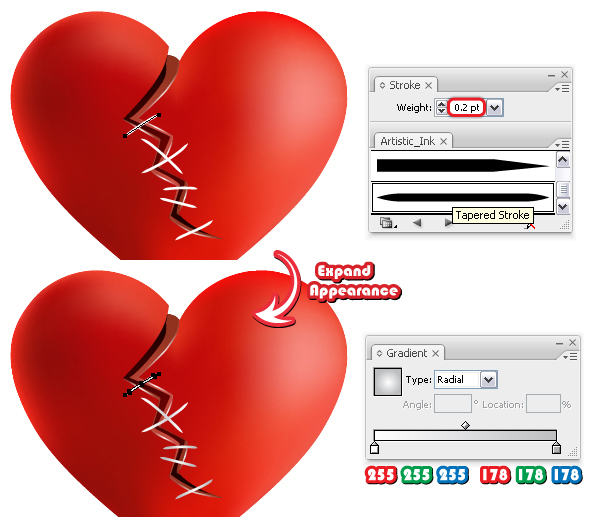 Mend A Broken Heart With Vector Stitches