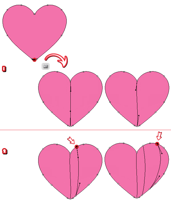 How To Create A Set Of Heart Icons In Adobe Illustrator With The