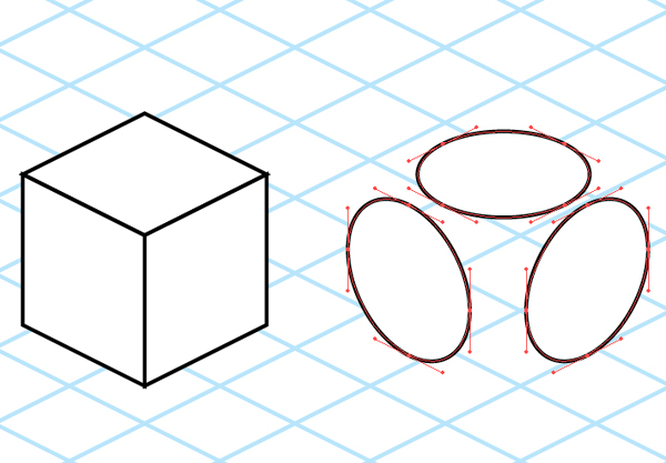 Drawing Lines In Qt : Quick tip how to draw isometric circles in adobe illustrator